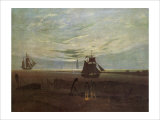 Evening by the Baltic Giclee Print by Caspar David Friedrich