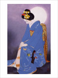 Maiko in Hazy Moon Giclee Print by Goyo Otake