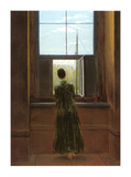 Woman at the Window Giclee Print by Caspar David Friedrich