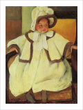 Ellen Mary Cassatt in a White Coat Giclee Print by Mary Cassatt
