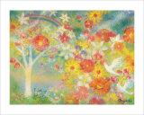 The Dream Is Made to Bloom, Flower of Rainbow Giclee Print by Miyuki Hasekura
