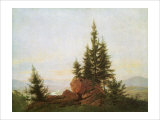 View of the Elbe Valley Giclee Print by Caspar David Friedrich
