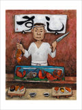 Sushi-Man Giclee Print by John Howard