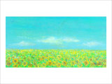 Sky, the Earth and Sunflower Field Giclee Print by Miyuki Hasekura