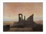 The Temple of Juno at Agrigento Giclee Print by Caspar David Friedrich
