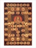 Buddha Circle Giclee Print by Jyakuchu Ito