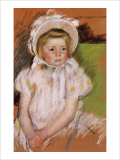 Simone in a White Bonnet Giclee Print by Mary Cassatt
