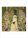 Garden Path with Chickens Reproduction procédé giclée par Gustav Klimt