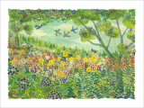 Smell of Wind, Green Meadow Giclee Print by Miyuki Hasekura
