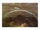 Mountain Landscape with Rainbow Giclee Print by Caspar David Friedrich