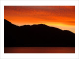 Sunset Mountain Giclee Print by Charles Glover