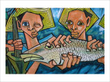 Cubist Latin Fish Giclee Print by Charles Glover
