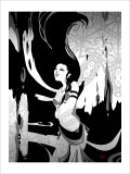 Japanese Kiri-e: Maiden Who Offers the Invocation of Rain Giclee Print by Kyo Nakayama