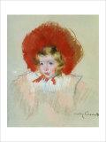 Enfant au chapeau rouge Reproduction procédé giclée par Mary Cassatt