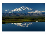 Mt, McKinnley Reflection, Alaska Giclee Print by Charles Glover