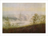 Elbe Skiff in the Morning Mist Giclee Print by Caspar David Friedrich