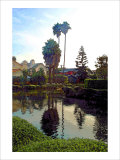 Palm Trees over Canal Giclee Print by Jack Heinz