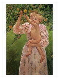 Baby Reaching for an Apple Lámina giclée por Mary Cassatt