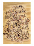 Hundred of Japanese Women Giclee Print by Jyakuchu Ito