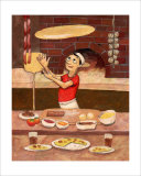 Pizza in Box Giclee Print by John Howard
