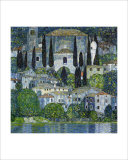 Church in Cassone Reproduction proc&#233;d&#233; gicl&#233;e par Gustav Klimt