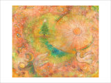 Sounds in the Universe: Dove Tree, and Sun Giclee Print by Miyuki Hasekura