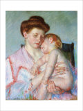 Sleepy Baby Giclee Print by Mary Cassatt