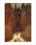 Chasseur in the Forest Giclee Print by Caspar David Friedrich