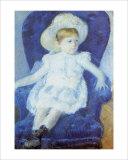 Elsie in a Blue Chair Giclee Print by Mary Cassatt