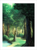 Girl in the Forest Giclee Print by Kyo Nakayama