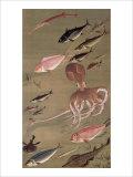 Fish Athletic Meeting Giclee Print by Jyakuchu Ito