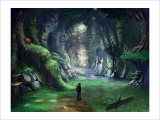 Travelers in the Mysterious Forest Giclee Print by Kyo Nakayama
