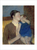 Mother's Goodnight Kiss Giclee Print by Mary Cassatt