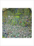 Garden Landscape with Hilltop Gicl&#233;e-Druck von Gustav Klimt