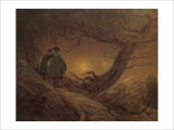 Two Man Contemplating the Moon Giclee Print by Caspar David Friedrich