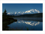 Mt. McKinnley, Wonderlake, Alaska Giclee Print by Charles Glover