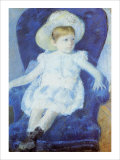 Elsie in a Blue Chair Giclee Print by Mary Cassatt