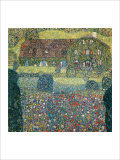 Villa on the Attersee Reproduction procédé giclée par Gustav Klimt