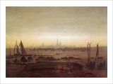 Greifswald in Moonlight Giclee Print by Caspar David Friedrich