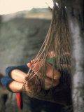 Couple in Hammock at Woodstock Lmina fotogrfica por Bill Eppridge