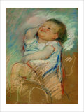 Sleeping Baby Giclee Print by Mary Cassatt