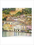 Malcesine on Lake Garda Reproduction proc&#233;d&#233; gicl&#233;e par Gustav Klimt