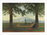 Garden Terrace Giclee Print by Caspar David Friedrich