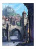 Castle over the Town Giclee Print by Kyo Nakayama