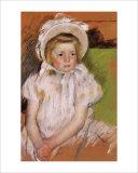Simone in a White Bonnet Giclee Print by Mary Cassatt