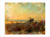 Life Guard Station, Venice Beach, California Giclee Print by Nicolas Hugo