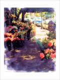 Flower Shop in a Shade Giclee Print by Nicolas Hugo