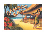 Bamboo Bar, Hawaii Gicle-tryk af Kerne Erickson