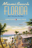 Miami Beach Giclee Print by Kerne Erickson