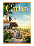 Cuba and American Jockey Impression giclée par Kerne Erickson